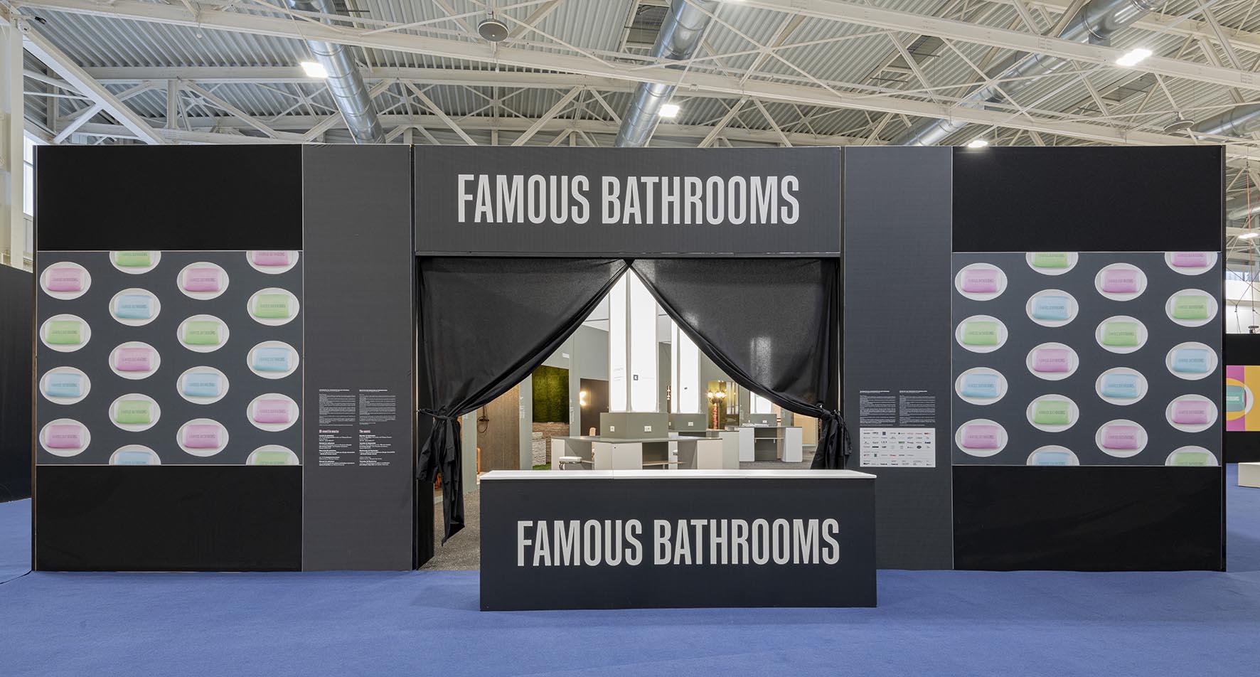 Grande successo per la mostra FAMOUS BATHROOMS al Cersaie 2019